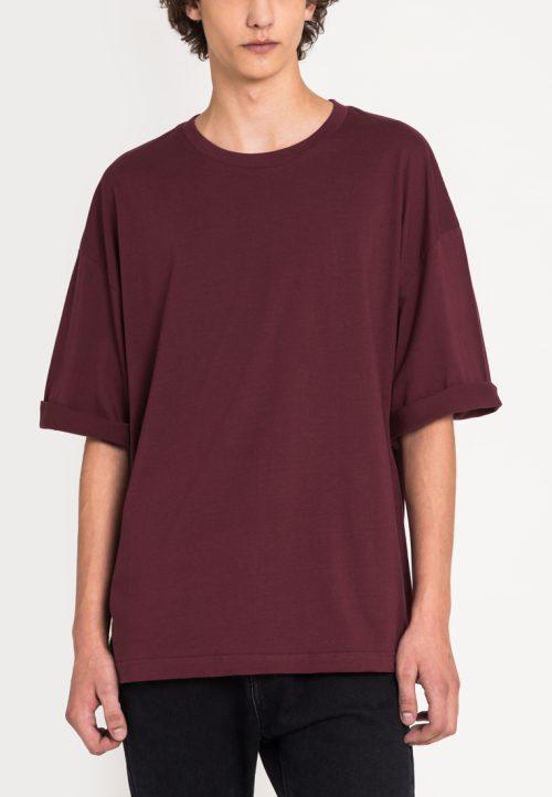 เสื้อยืดผู้ชาย Monochrome Oversized (แดง)