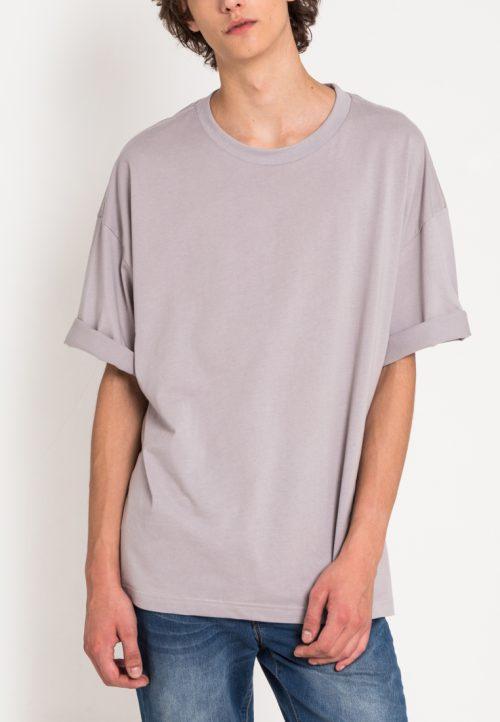 เสื้อยืดผู้ชาย Monochrome Oversized (เทา)