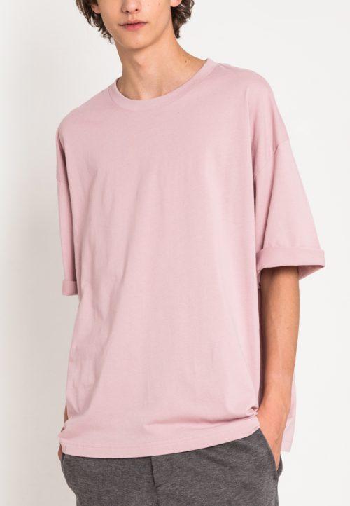 เสื้อยืดผู้ชาย Monochrome Oversized (ชมพู)