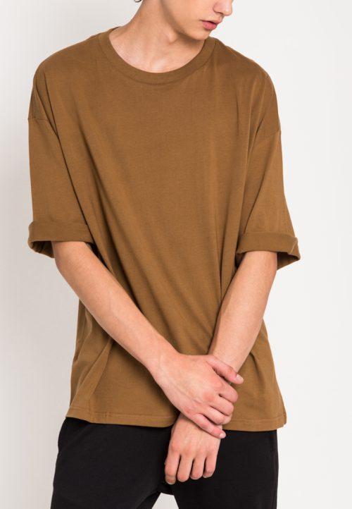 เสื้อยืดผู้ชาย Monochrome Oversized (น้ำตาล)