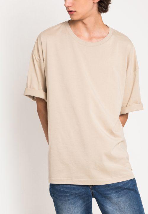 เสื้อยืดผู้ชาย Monochrome Oversized (เบจ)