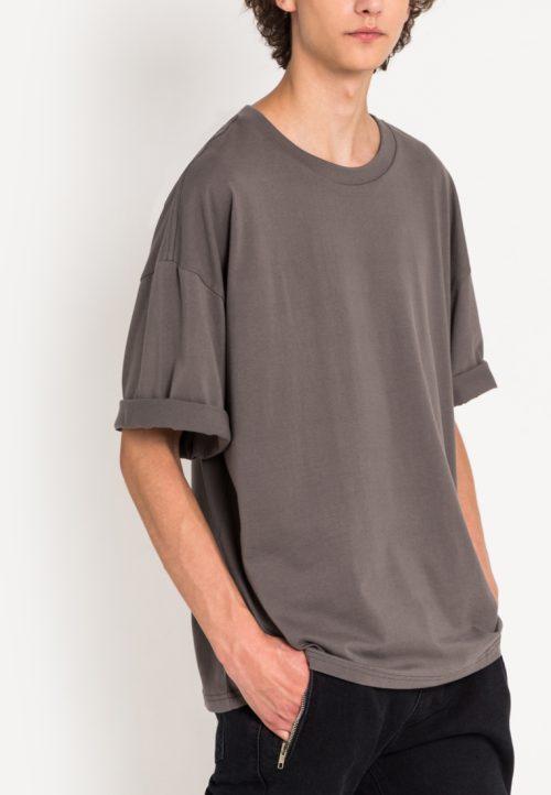 เสื้อยืดผู้ชาย Monochrome Oversized (สีเทา)