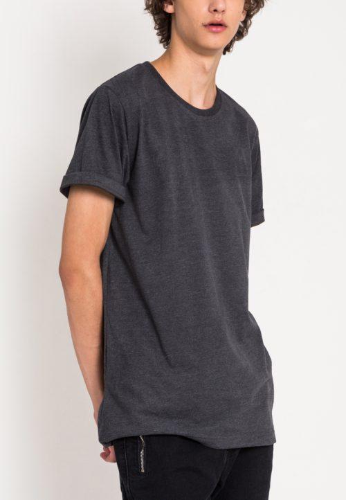 เสื้อยืดผู้ชาย Everyday Oversize (เทาเข้ม)