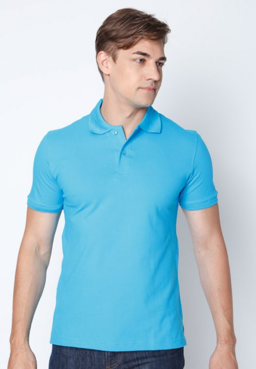 เสื้อ้โปโลผู้ชายสีฟ้าเว็บเสื้อผ้าแฟชั่น MAXTEEN