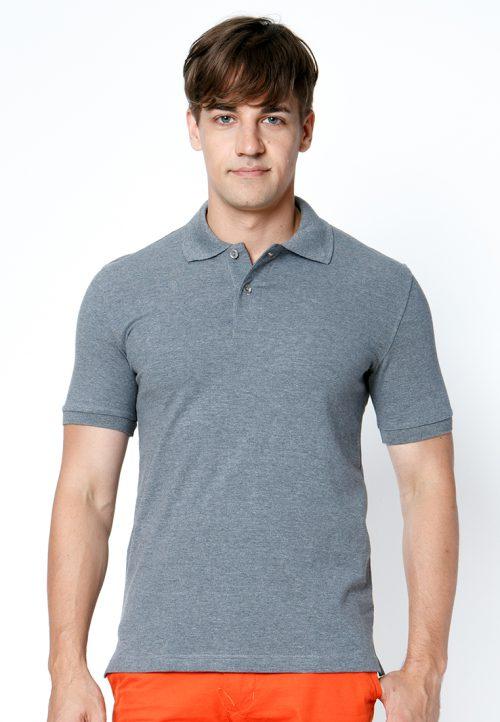 เสื้อ้โปโลผู้ชายสีเทาเข้มเว็บเสื้อผ้าแฟชั่น MAXTEEN