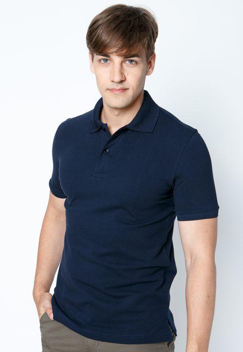 เสื้อ้โปโลผู้ชายสีกรมท่าเว็บเสื้อผ้าแฟชั่น MAXTEEN