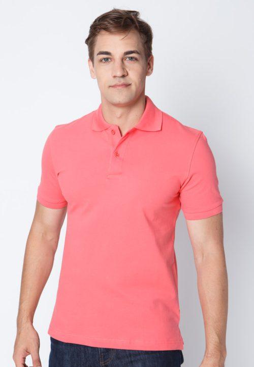 เสื้อ้โปโลผู้ชายสีชมพูเข้มเว็บเสื้อผ้าแฟชั่น MAXTEEN