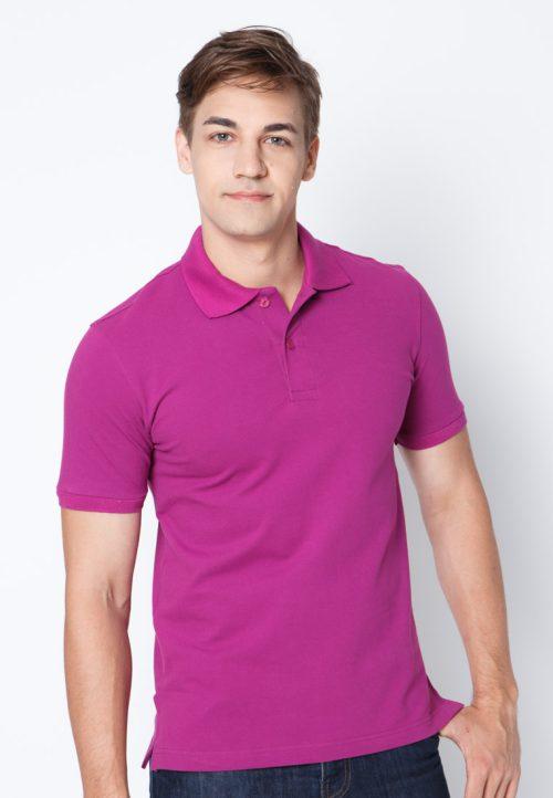 เสื้อ้โปโลผู้ชายสีม่วงเข้มเว็บเสื้อผ้าแฟชั่น MAXTEEN