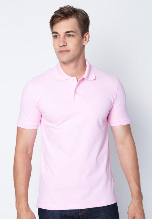 เสื้อ้โปโลผู้ชายสีชมพูอ่อนเว็บเสื้อผ้าแฟชั่น MAXTEEN