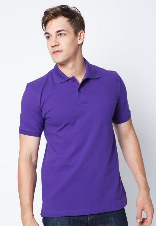 เสื้อ้โปโลผู้ชายสีม่วงน้ำเงินเว็บเสื้อผ้าแฟชั่น MAXTEEN