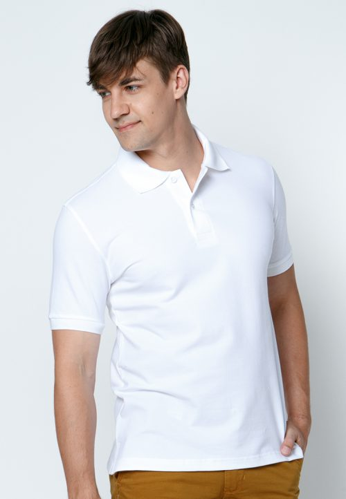 เสื้อ้โปโลผู้ชายสีขาวเว็บเสื้อผ้าแฟชั่น MAXTEEN