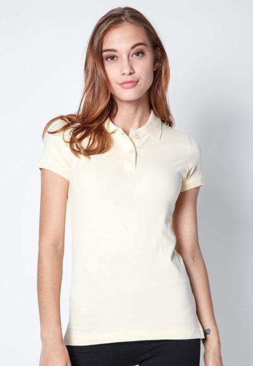 เสื้อ้โปโลผู้หญิงสีเบจเว็บเสื้อผ้าแฟชั่น MAXTEEN