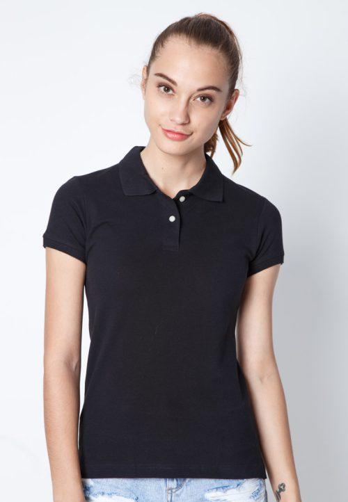 เสื้อ้โปโลผู้หญิงสีดำเว็บเสื้อผ้าแฟชั่น MAXTEEN