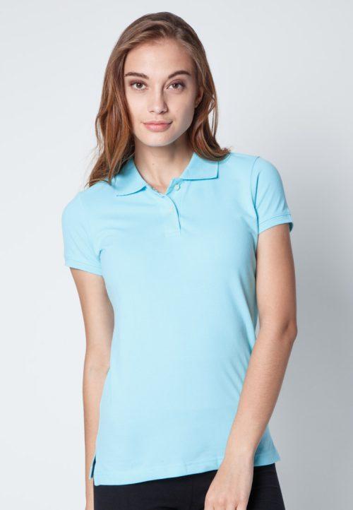 เสื้อ้โปโลผู้หญิงสีฟ้าสว่างเว็บเสื้อผ้าแฟชั่น MAXTEEN