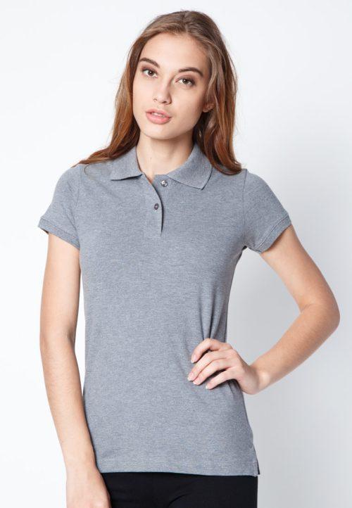 เสื้อ้โปโลผู้หญิงสีเทาเว็บเสื้อผ้าแฟชั่น MAXTEEN
