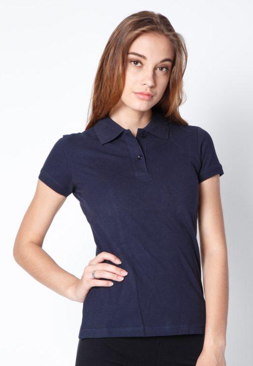เสื้อ้โปโลผู้หญิงสีกรมท่าเว็บเสื้อผ้าแฟชั่น MAXTEEN