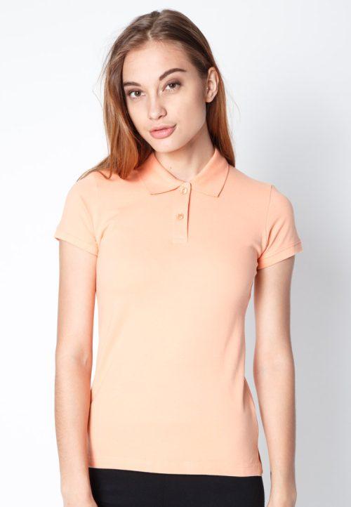 เสื้อ้โปโลผู้หญิงสีส้มอ่อนเว็บเสื้อผ้าแฟชั่น MAXTEEN