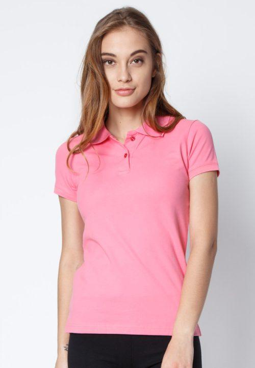 เสื้อ้โปโลผู้หญิงสีชมพูเข้มเว็บเสื้อผ้าแฟชั่น MAXTEEN