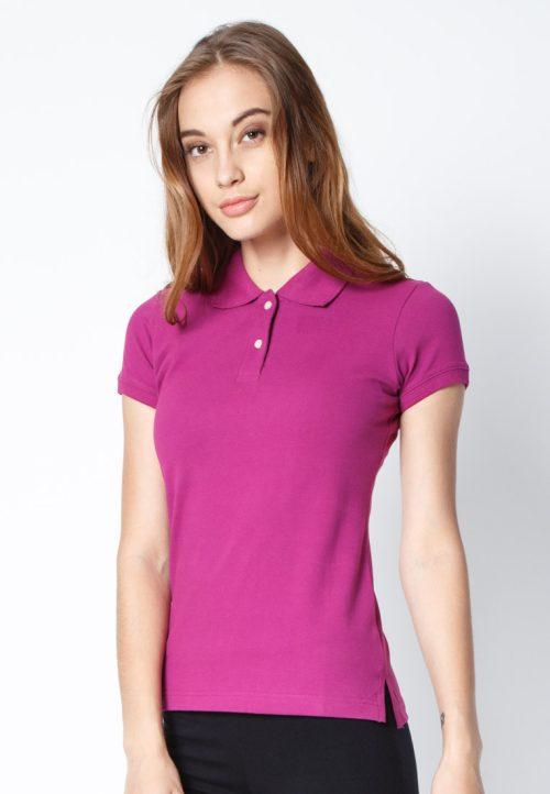 เสื้อ้โปโลผู้หญิงสีม่วงเข้มเว็บเสื้อผ้าแฟชั่น MAXTEEN