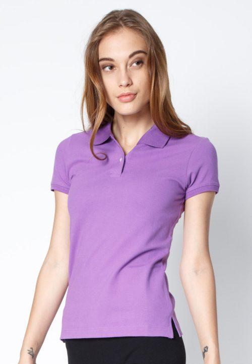 เสื้อ้โปโลผู้หญิงสีม่วงอ่อนเว็บเสื้อผ้าแฟชั่น MAXTEEN