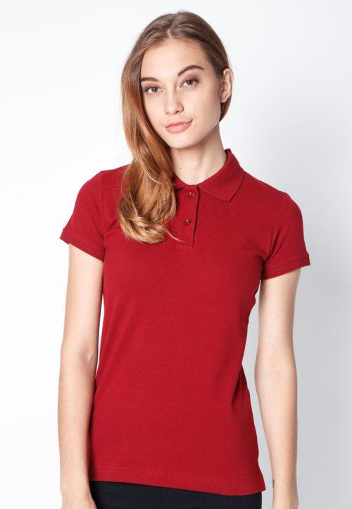 เสื้อ้โปโลผู้หญิงสีแดงเว็บเสื้อผ้าแฟชั่น MAXTEEN