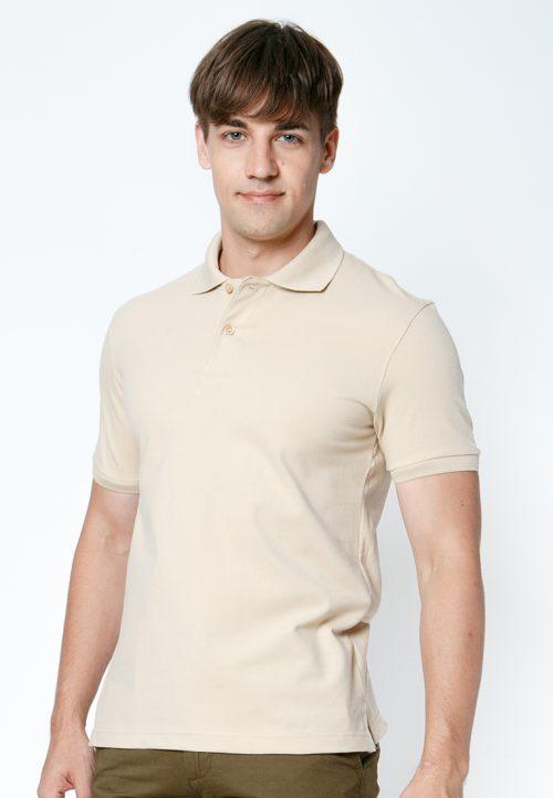 เสื้อ้โปโลผู้ชายสีเบจเว็บเสื้อผ้าแฟชั่น MAXTEEN