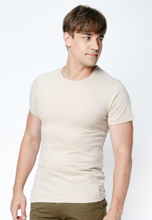 เสื้อยืดผู้ชายสีเบจ เว็บเสื้อผ้าแฟชั่น MAXTEEN