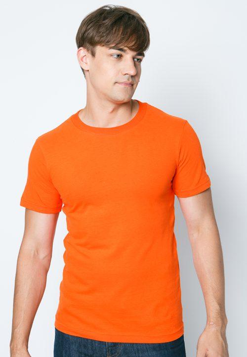 เสื้อยืดผู้ชายสีส้มเข้ม เว็บเสื้อผ้าแฟชั่น MAXTEEN