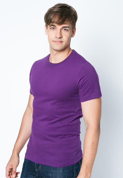 เสื้อยืดผู้ชายสีม่วงเข้ม เว็บเสื้อผ้าแฟชั่น MAXTEEN