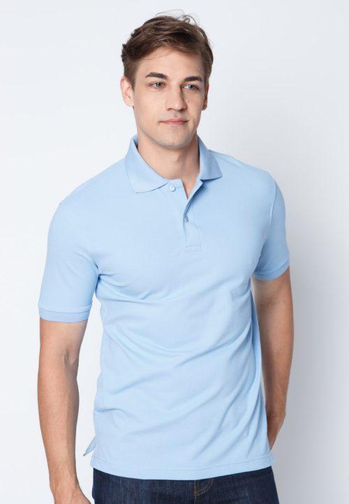 เสื้อ้โปโลผู้ชายสีฟ้าครามเว็บเสื้อผ้าแฟชั่น MAXTEEN