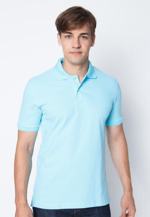 เสื้อ้โปโลผู้ชายสีฟ้าใสเว็บเสื้อผ้าแฟชั่น MAXTEEN