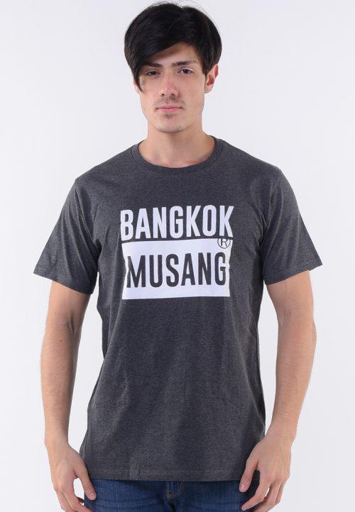 เสื้อยืด bangkok musang สกรีนขาวด้านลูกเล่นสะดุดตา