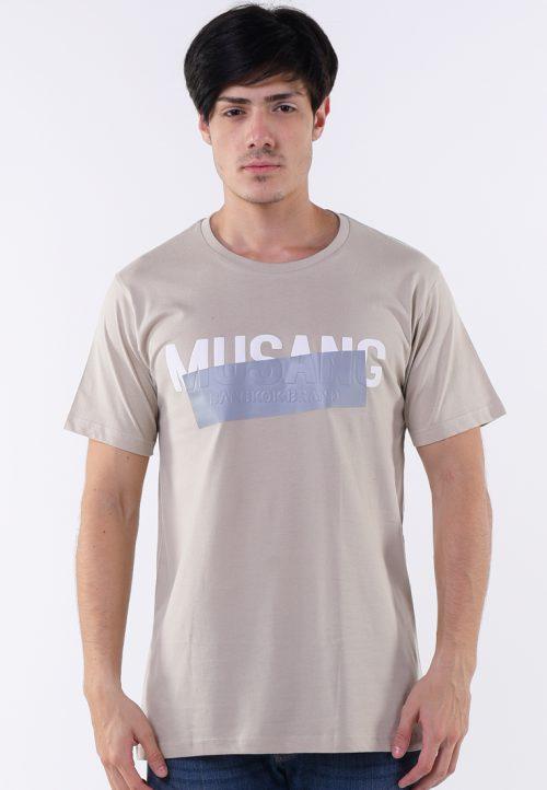 เสื้อยืด musang สกรีนเทาด้านทับตัวอักษรลูกเล่น แนวอาร์ต ๆ เหมาะกับผู้ที่หลงใหลในความต่าง