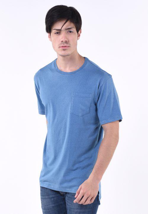 เสื้อยืด งานซีรีย์อินดีโก้ (ลายคราม) ผ้าคอตต้อนทอละเอียด บาง เบา สวมใส่สบาย งานย้อมชั้นเยี่ยมสีฟ้าอ่อน (ท้องฟ้า) เท่ห์ อิสระ โบยบิน