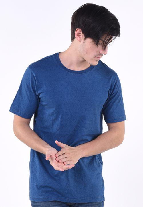เสื้อยืด งานซีรีย์อินดีโก้ (ลายคราม) ผ้าคอตต้อนทอละเอียด บาง เบา สวมใส่สบาย งานย้อมชั้นเยี่ยมสีฟ้าอ่อน (น้ำเงิน) เท่ห์ อิสระ โบยบิน